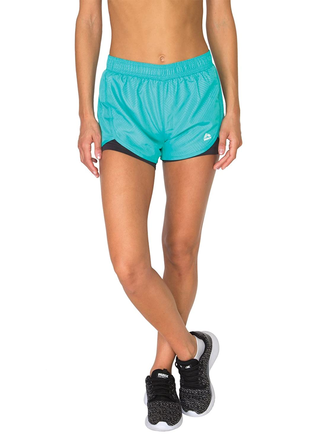 RBX Active Women's Printed Traditional Running Short with Inner Compression