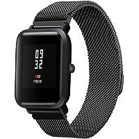 Para Xiaomi Huami Amazfit Bip Bandas-Longtis Milanese Pulsera magnética reloj de pulsera de acero inoxidable banda correa de repuesto para Xiaomi Huami Amazfit Bip reloj juvenil