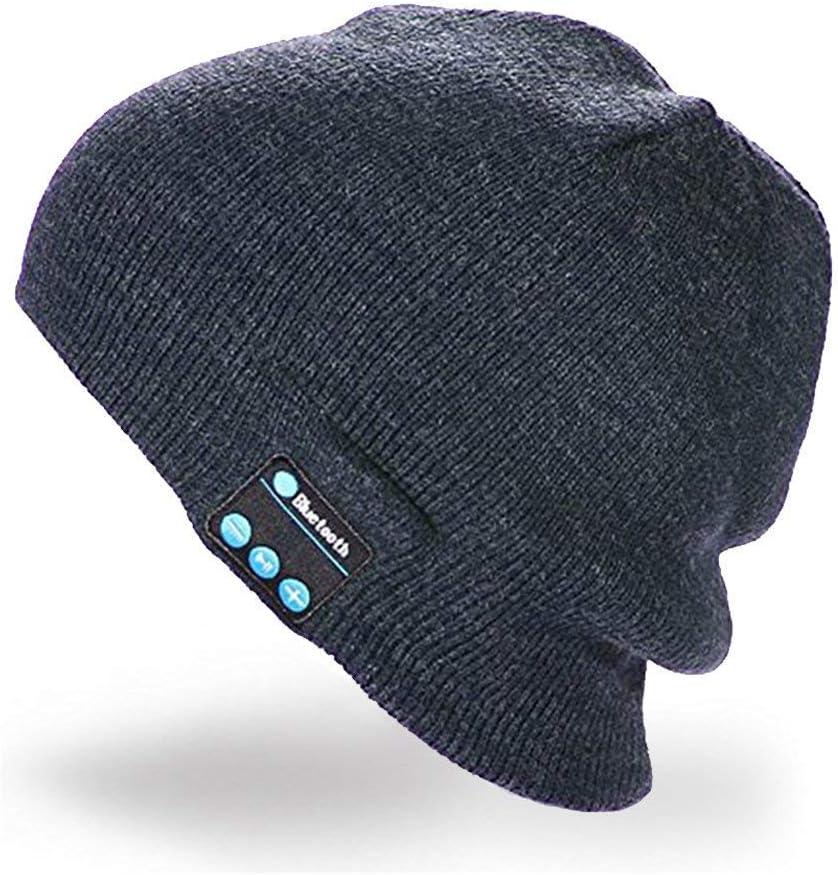 Wireless sports hats, Beanie Music Soft Warm Hat, RingRingshop hat cap with Stereo Headphone Headset Speaker Mic Hands-Free for Men Women Speaker Winter Outdoor Sport Best Gift (Dark Grey)