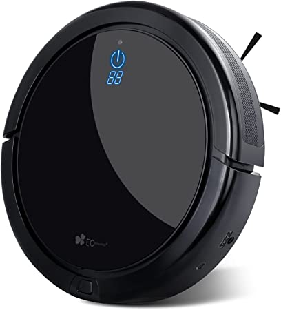 Robot Aspirador EC Technology con Alta Potencia de Succión, Sensor Anti-Caída, Tecnología Inteligente con Programado para Limipeza Automática, Carga Automática, para Pelos de Mascota, Polvo, Suelos Duros, Delgada Alfombras - Negro: Amazon.es: