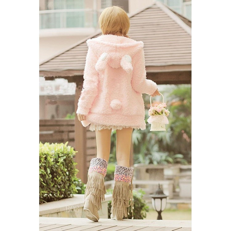 Women Girl Winter Cute Sweet Hoodie Coat Warm Jacket Outerwear Tops