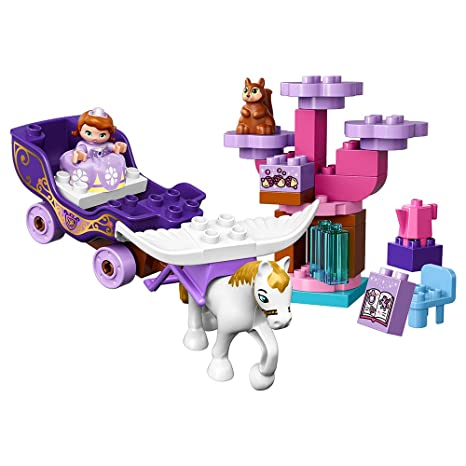 LEGO DUPLO l Disney Sofia the First Magical Carriage 10822 Large Building  Block Toy for 2