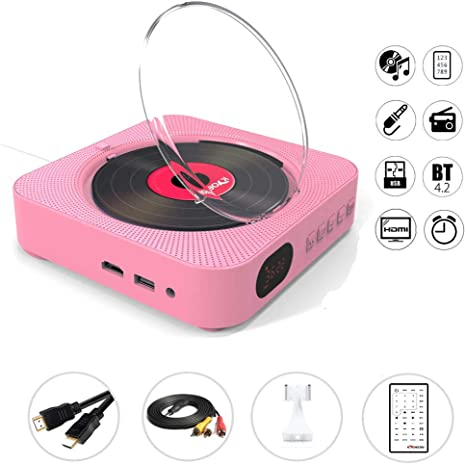 Powerfulm Cd Player Wall Mount Bluetooth Movable Main Audio Boombox Hdmi Dvd Fm Usb Hi Fi Speaker Music Player With Remote Control Küche Haushalt