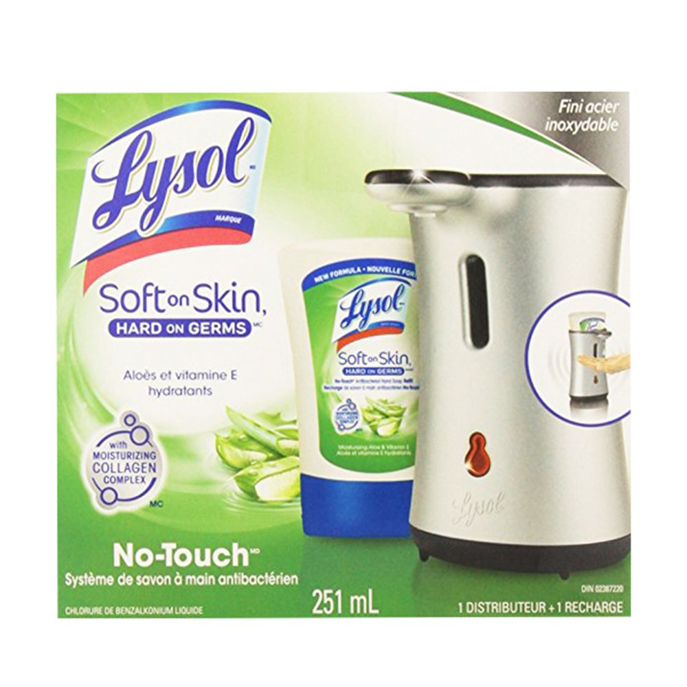 1 Lysol No Touch Dispenser Hand Soap System White