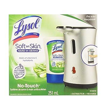 lysol no touch hand soap system moisturizing aloe vitamin e 1 rh amazon ca