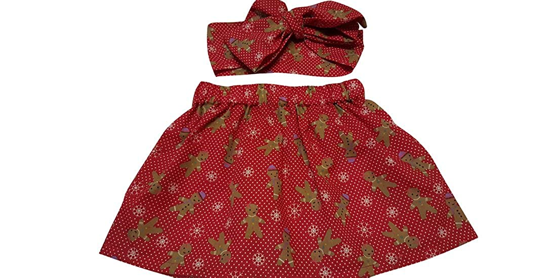 dd81a3260a8b Baby s Skirt and Headwrap Cute Gingerbread Man Xmas Baby Set ...