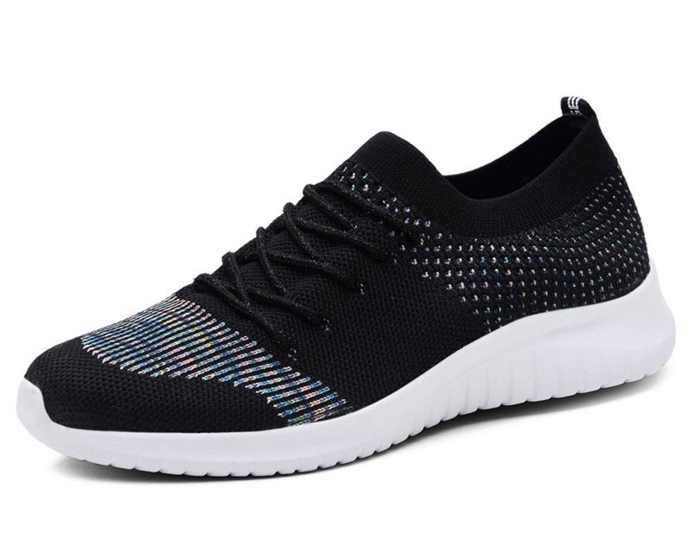 TIOSEBON HK2135 - Zapatillas de Running para Mujer 36.5 EU|2135 Black