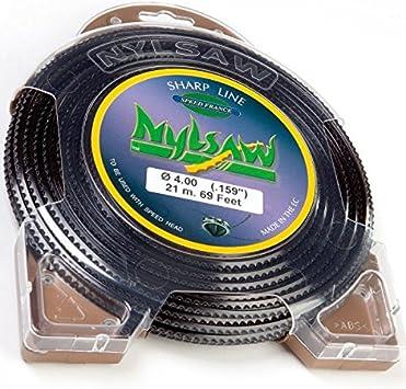 Hilo Nylon nylsaw 4 mm x 21 m dentados Blister hilo desbrozadora: Amazon.es: Bricolaje y herramientas