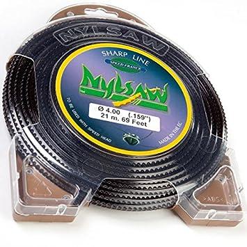 Hilo Nylon nylsaw 4 mm x 21 m dentados Blister hilo desbrozadora ...