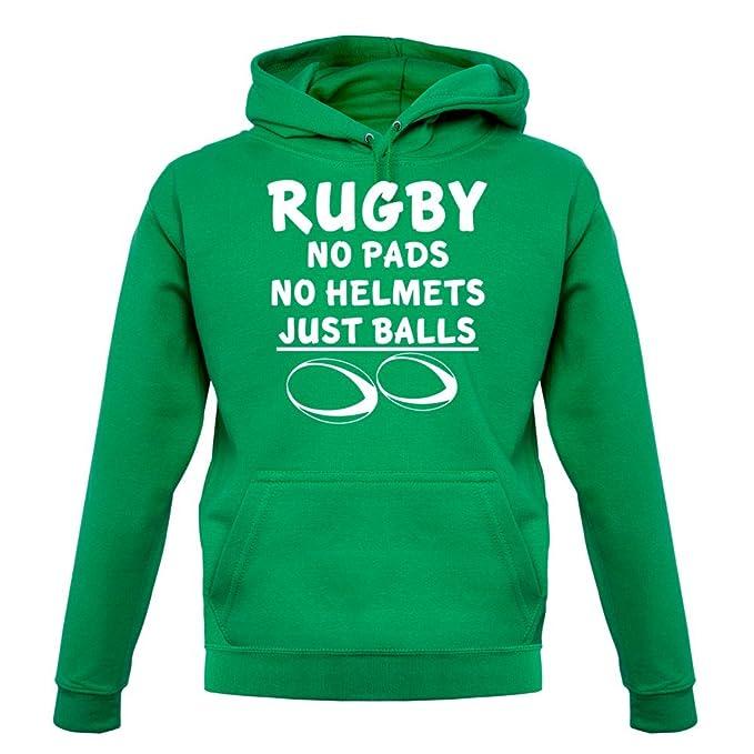 Rugby. No almohadillas sin casco solo - Bolas unisex Rugby sudadera con capucha/con capucha Top - 9 Colores: Amazon.es: Ropa y accesorios