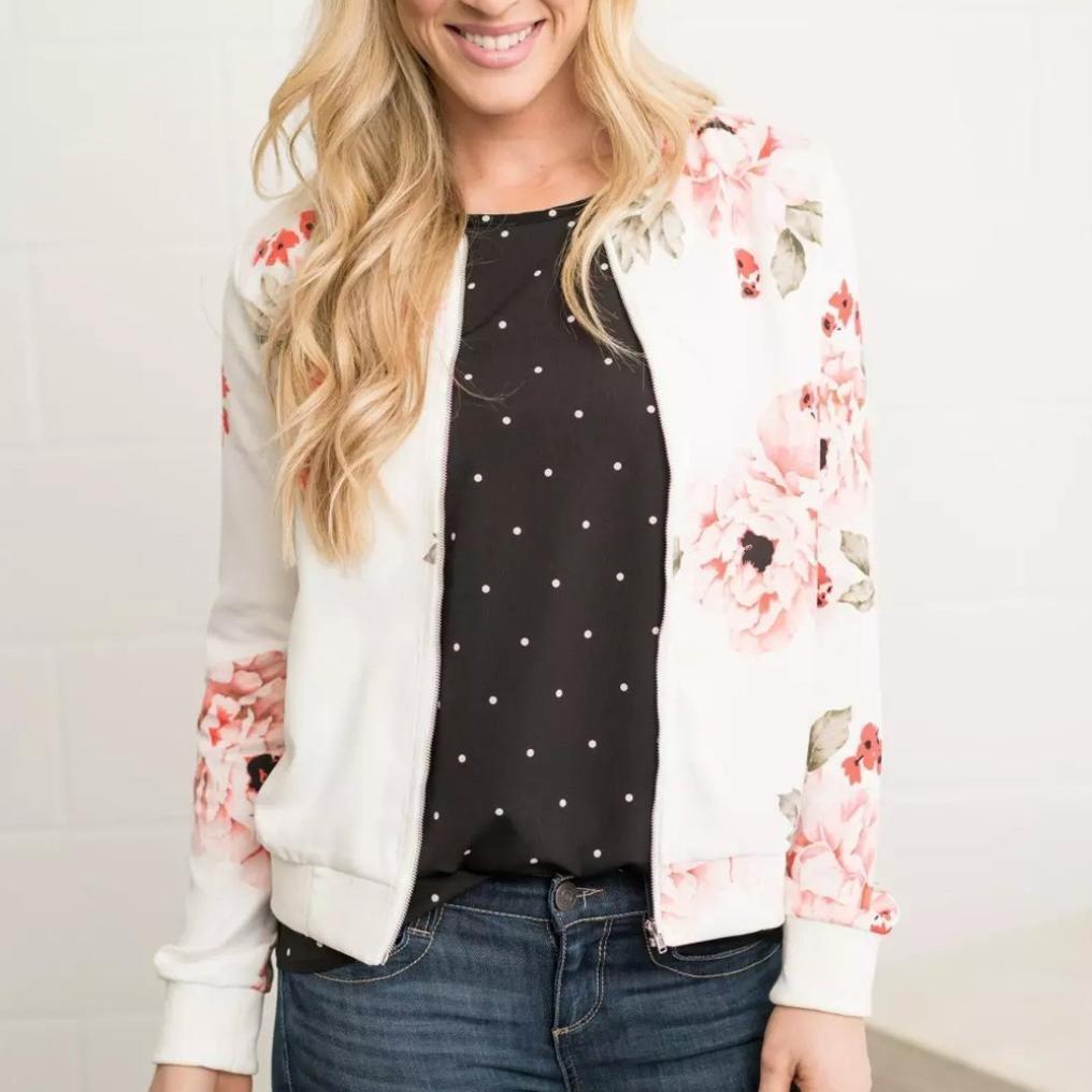 ❤️Chaqueta para Mujer,Moda Casual Floral Print Top Coat Outwear Sweatshirt Overcoat Absolute: Amazon.es: Ropa y accesorios