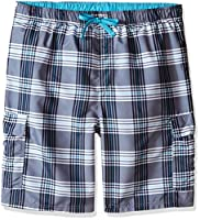 U.S. Polo Assn.. Men's Plaid Cargo Short, Black, X-Large