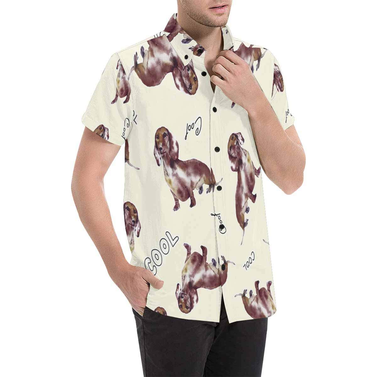 InterestPrint Button Down T Shirts Cool Dogs Button Down Shirts Short Sleeve