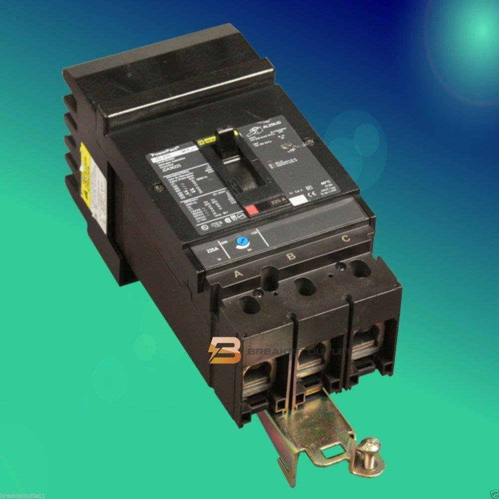 New Square D HGA36150 Circuit Breaker 3 Pole PowerPact 150A 600V 35kA HGA