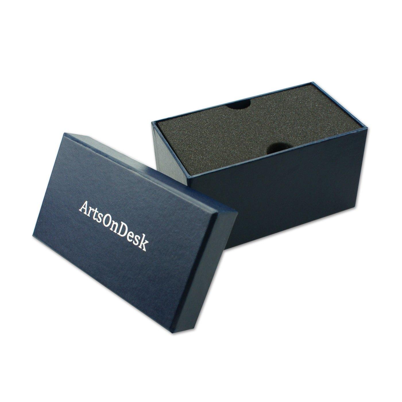 ArtsOnDesk moderna arte titolare del biglietto da visita Bk301 acciaio nero brevettato lusso high-end scrivania nome accessorio targhetta espositori caso ufficio organizzatore
