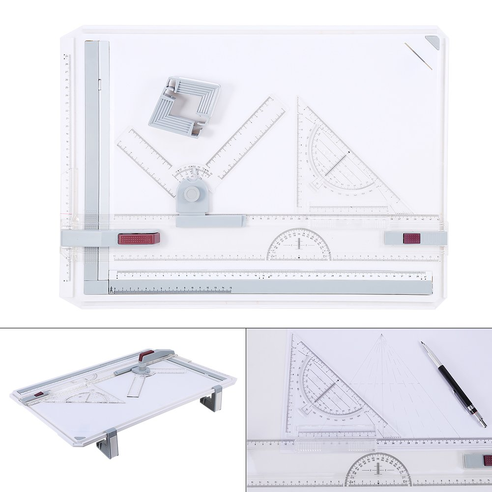 A3 Drawing Table Board , Adjustable Measuring System Angle Parallel Motion Drawing Board by Estink
