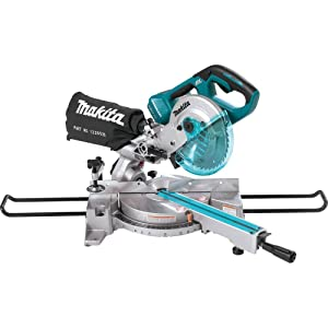 """Makita XSL02Z 18V X2 LXT Lithium-Ion Brushless Cordless 7-1/2"""" Dual Slide Compound Miter Saw, Tool Only"""