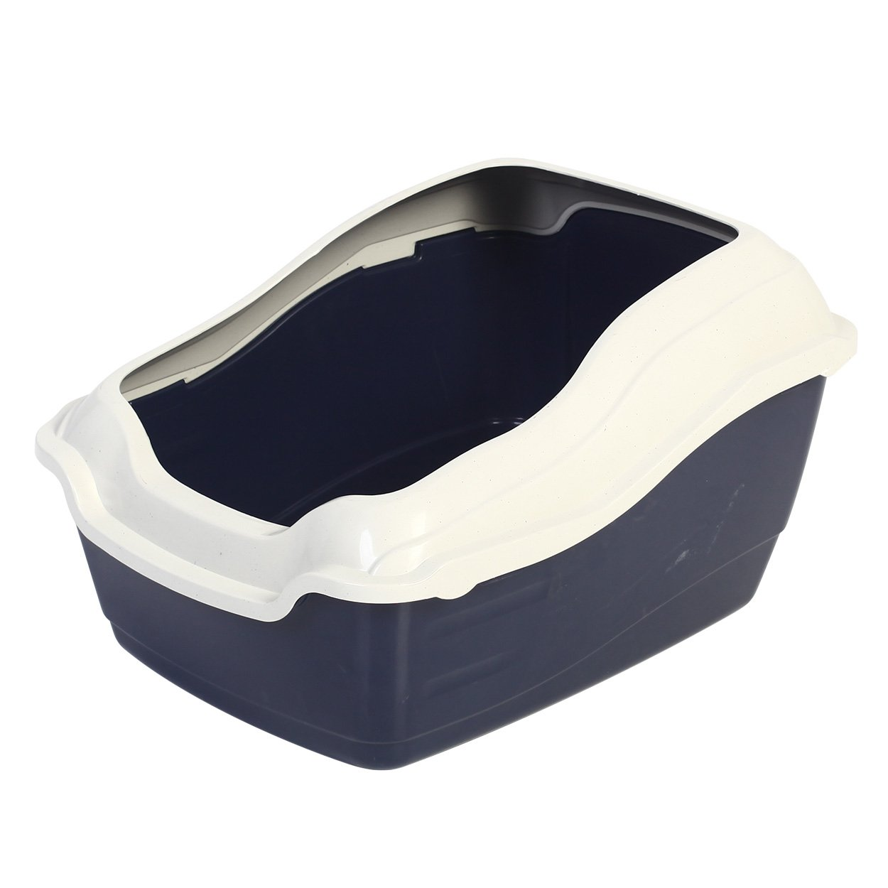 Animal Treasures Deluxe High Back Cat Litter Pan with Rim