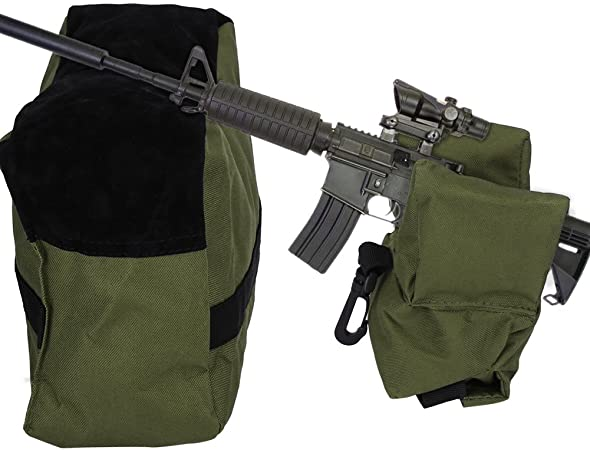 Portable Shooting Range Sand Bag Set Rifle Bench Rest Stand Front /& Rear Bag