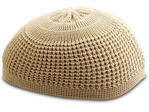 Solid Colored Elastic Skull Cap Kufi Hats ()