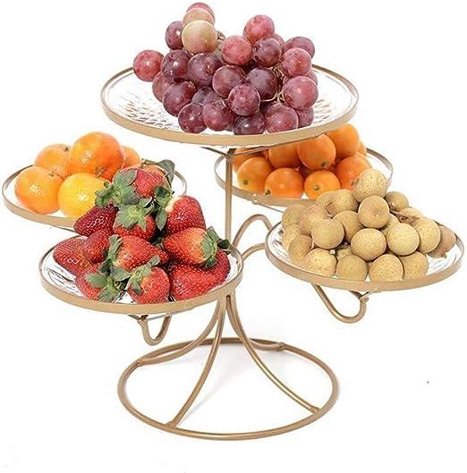 3 Tier Fruit Snacks Vegetable Cake Basket Bowl Rack White Plastic Stand Holder
