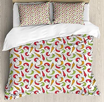 Bedding Set Cartoon Style Vegetable Duvet Cover Set1 Duvet Cover + 2 Pillow Shams
