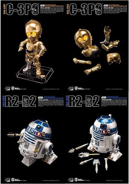Amazon.com: Beast Kingdom Egg Attack Action C-3PO & R2-D2 ...