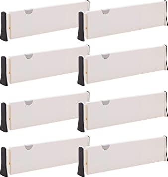 TENABORT Adjustable Drawer Dividers