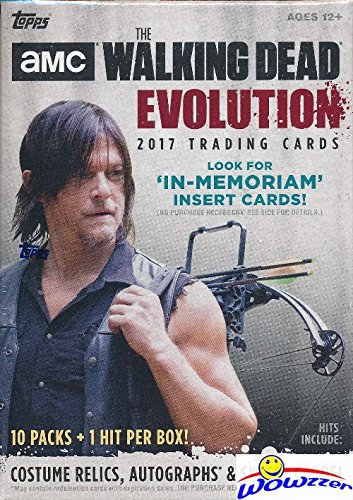 2017 Topps AMC The Walking Dead: EVOLUTION HUGE Factory Sealed 11 Pack Retail Box with Autograph, Costume Relic or Sketch Card! Featuring Characters covering all seven seasons of the hit show! WOWZZER (Cards Topps Sketch)