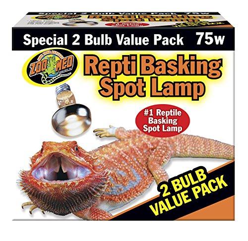 Basking Spot Lamp 2 Bulb - Zoo Med Reptile Basking Spot Lamp 75 Watts 2 Bulb Value Pack