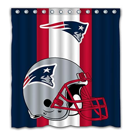 Image Unavailable Not Available For Color Potteroy New England Patriots Team Simple Design Shower Curtain