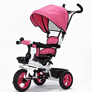 CGN- Bicicleta para niños, carro de bebé para bebés Triciclo bicicleta para carro suave