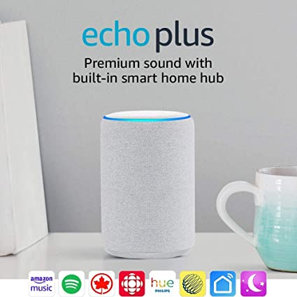 Bundle with free Philips Hue Bulb Sandstone 2nd Gen All-new Echo Plus