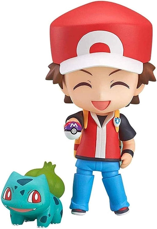 ZJSXIA Nendoroide Pokemon Pack Mini Q Versión Pokemon Bulbasaur Charmander Squirtle 3.9inches Figura de acción EP-PVC Carácter figuritas Pokemon