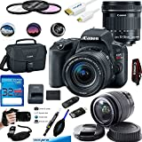 Canon EOS Rebel SL2 Kit with EF-S 18-55mm f/4-5.6 IS STM Lens Digital SLR Cameras (Black) + Canon EF-S 10-18mm f/4.5-5.6 IS STM Lens - Deal-Expo Accessories Bundle