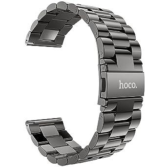 HOCO Gear S3 Bracelets de Montre Pinhen 22mm Acier Inoxydable un  Replacement de Bracelet Milanais pour
