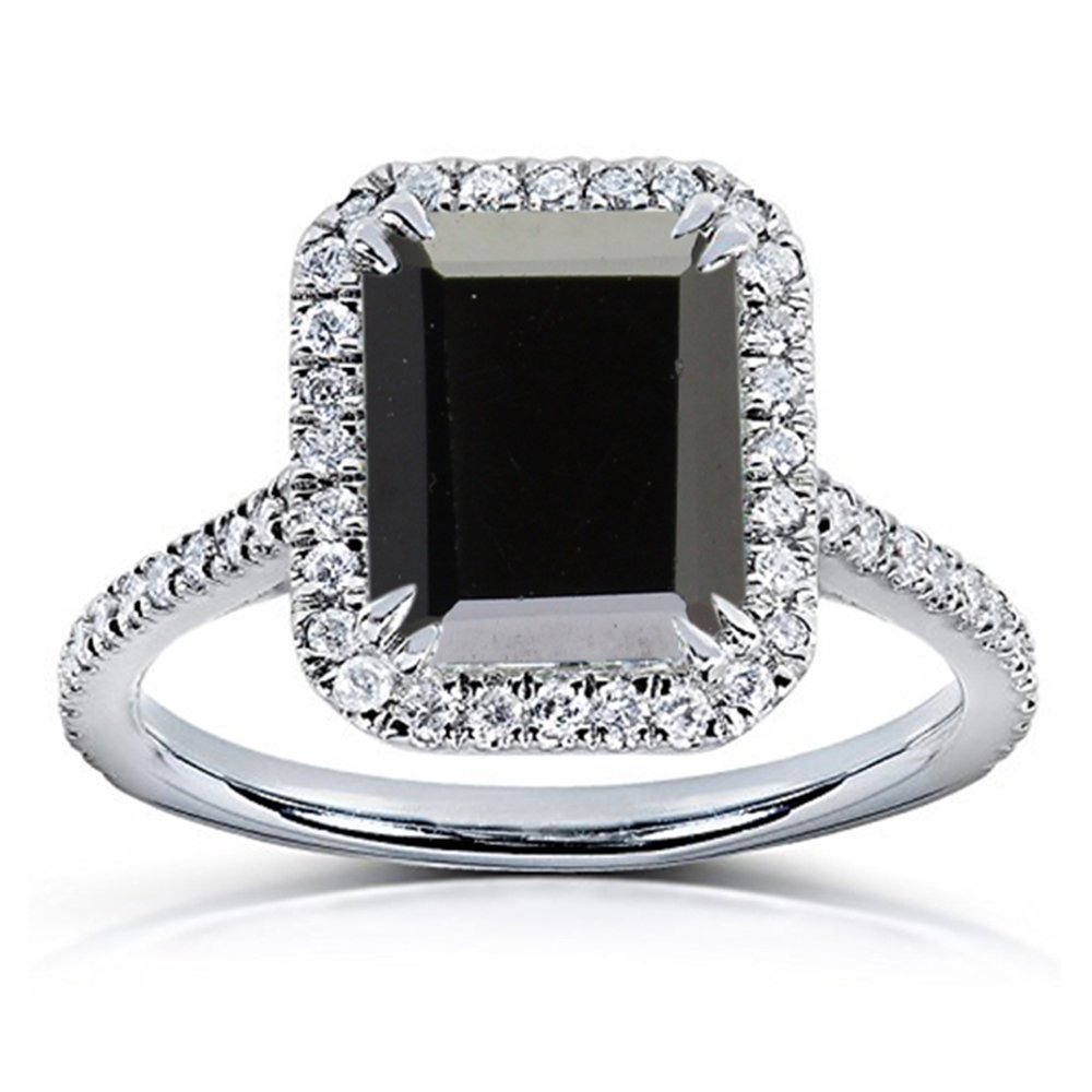 O 1 2 Vorra Fashion Women's Solitaire With Accents Engagement Ring in 925 Sterling Silver