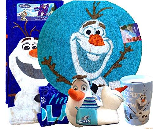 Amazon.com: Disney Frozen Olaf Bathroom Decoration| Disney Frozen 2pc Bath  Set Includes - Frozen Bathroom Set Show Home Design