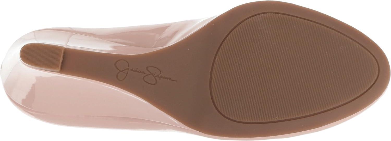 Jessica Simpson Footwear Women Sampson Wedge Pump B078JLS5XB 8 B(M) US Nude Blush Patent