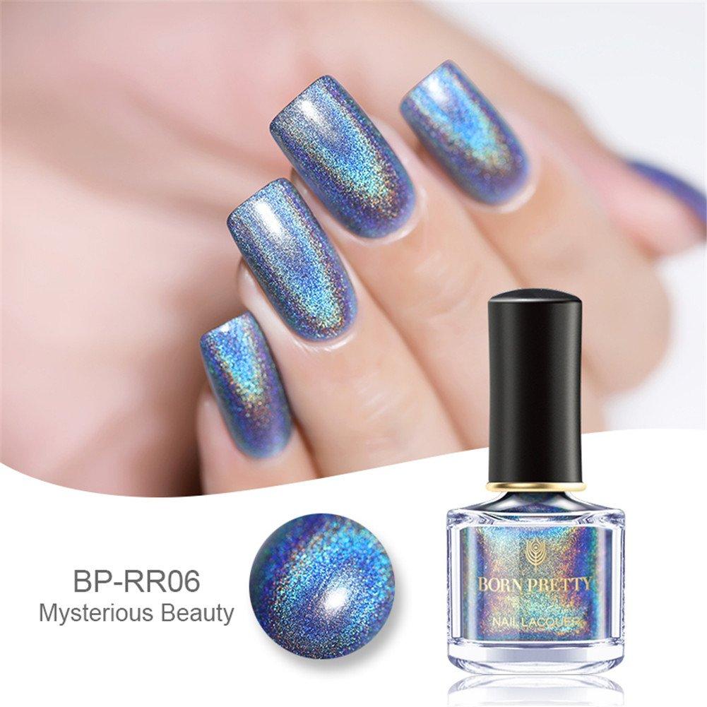 Born Pretty 6ml Holographic Holo Glitter Super Shine Nail Art Polish H001 - Shine In The Dark #35869
