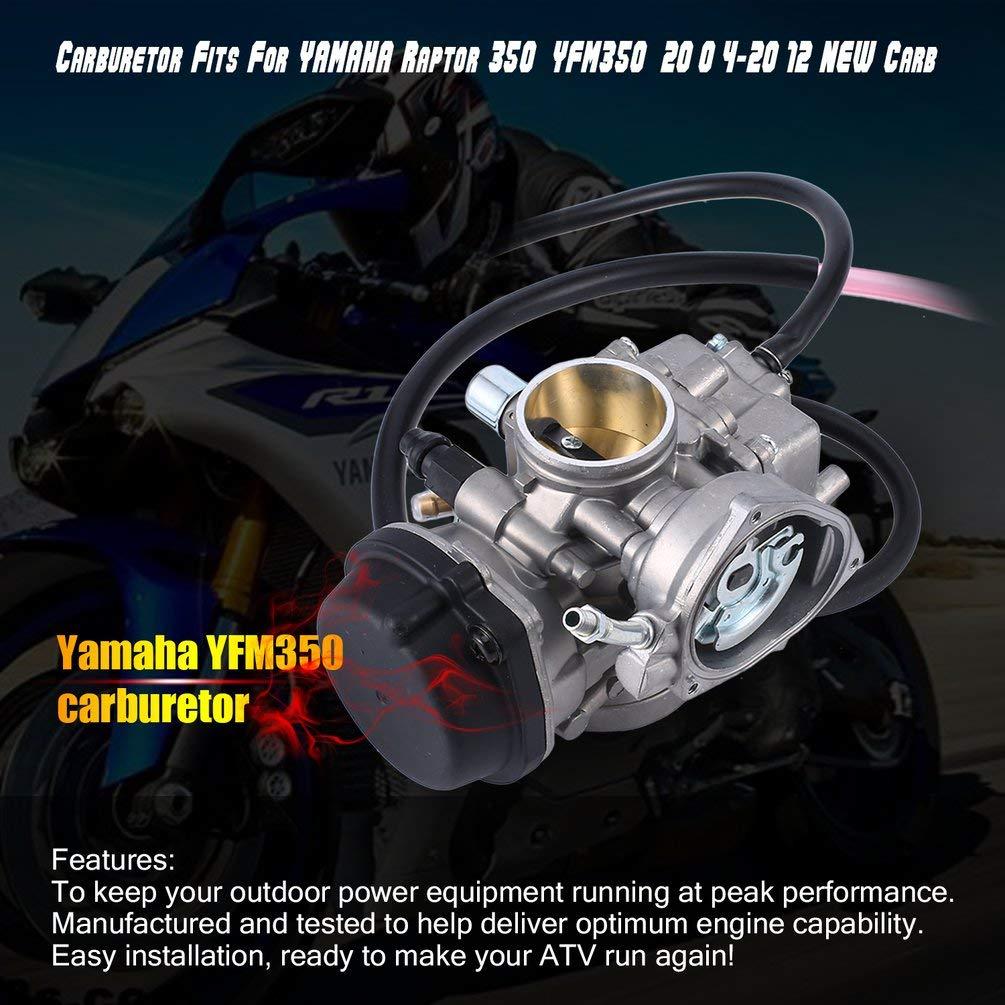 Kinshops El carburador se Adapta a Yamaha Raptor 350 YFM350 2004-2012 NUEVOS ensamblajes de Motor de Motocicleta Carb Plateados