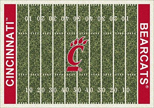 Cincinnati Bearcats Home Field Rug Cincinnati Bearcats (End Zone Color: Red)