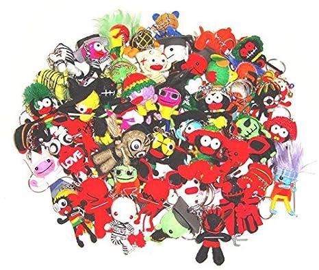 Amazon.com: Wholesale Bulk Lot 50 pcs Voodoo Dolls Llavero ...