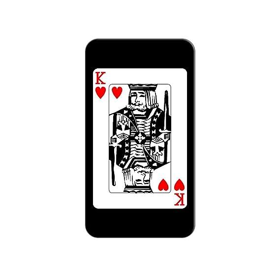Juego de cartas rey de corazones – Poker Metal camiseta de gorro ...