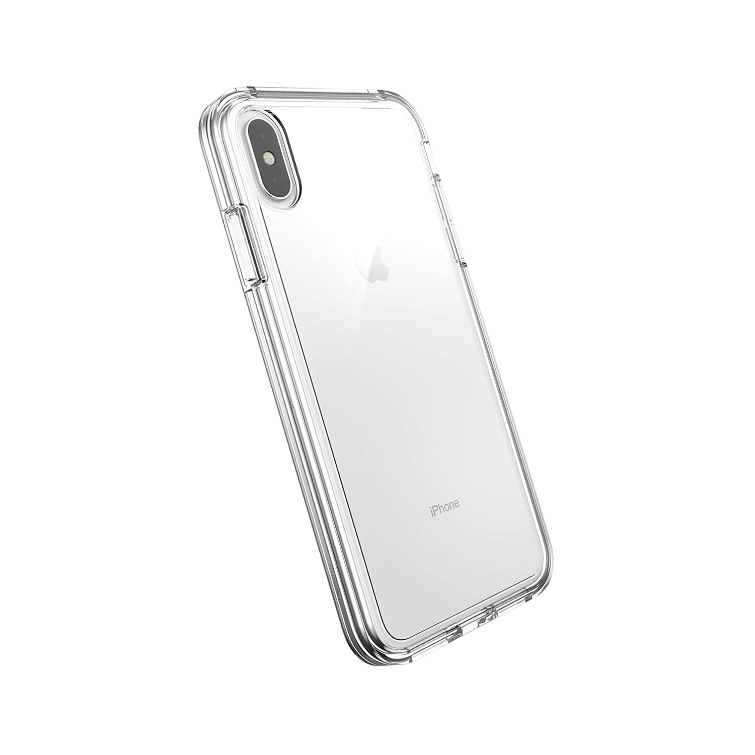 AmazonBasics Dual-Layer Case for iPhone Xs Max, Clear