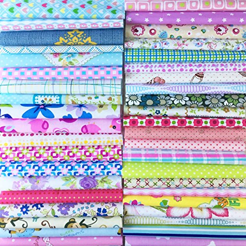 Fabric 4 Fat Quarters - Misscrafts 200 PCS 4 x 4 inches Cotton Fabric Squares Precut Quilting Charm Pack