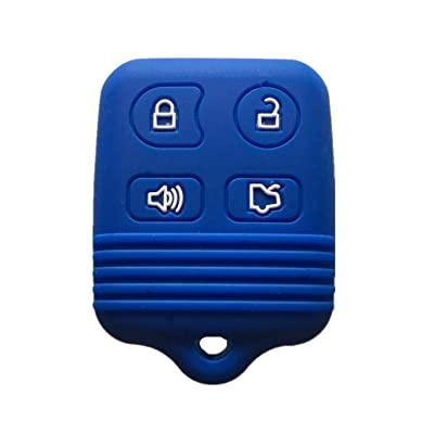 Rpkey Silicone Keyless Entry Remote Control Key Fob Cover Case protector For Ford Mustang Edge Escape Expedition Explorer Focus Escort Lincoln Mercury CWTWB1U331 GQ43VT11T 8S4Z-15K601-AA 5925872: Automotive
