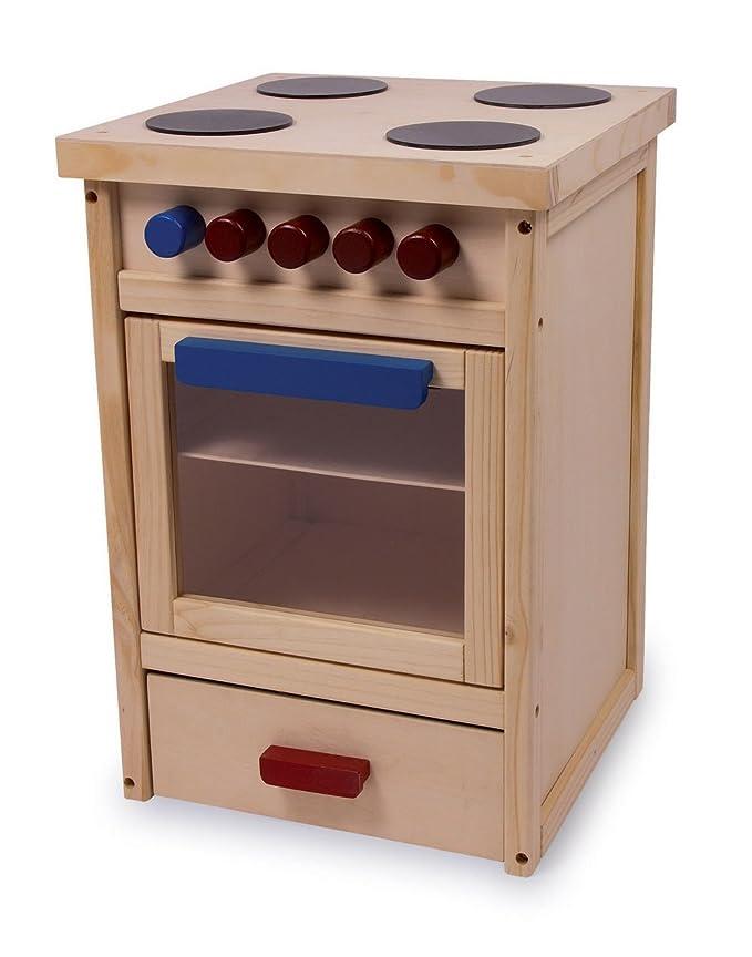 Jouetprive-Cuisinière pour enfant en bois naturel Marion