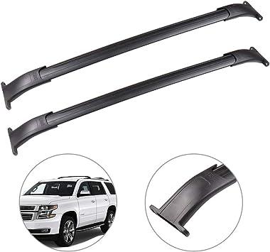 OCPTY Roof Rack Cross Bar Cargo Carrier Fit for 2015-2018 Cadillac Escalade//Cadillac Escalade ESV//Chevrolet Suburban//Chevrolet Tahoe//GMC Yukon//GMC Yukon X Roof Rack Crossbars