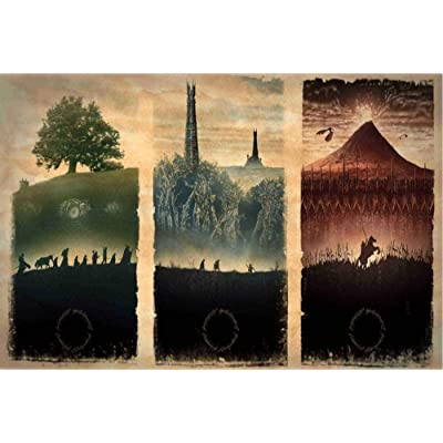 1000 Pieces-Jigsaw Puzzles for Adults Jigsaw Puzzles Lord of The Rings Trilogy 1000-Piece Puzzle Gift 3D Wooden Jigsaw Puzzles for Adults Piece Kid Toys: Toys & Games